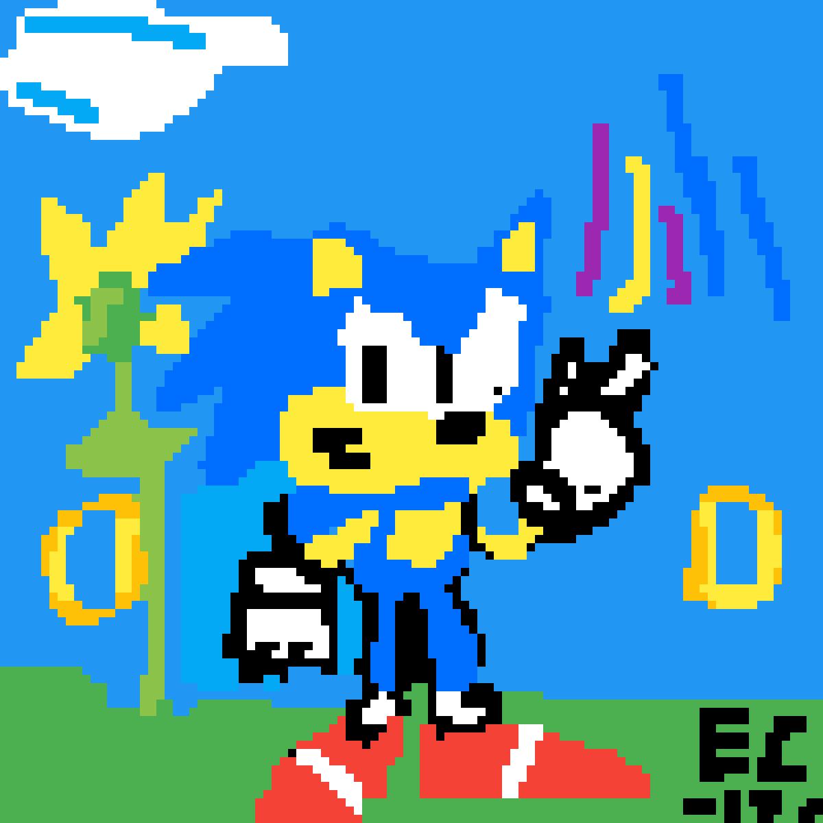 Pixilart 8 Bit Sonic The Hedgehog Pixel Art By Anonymous