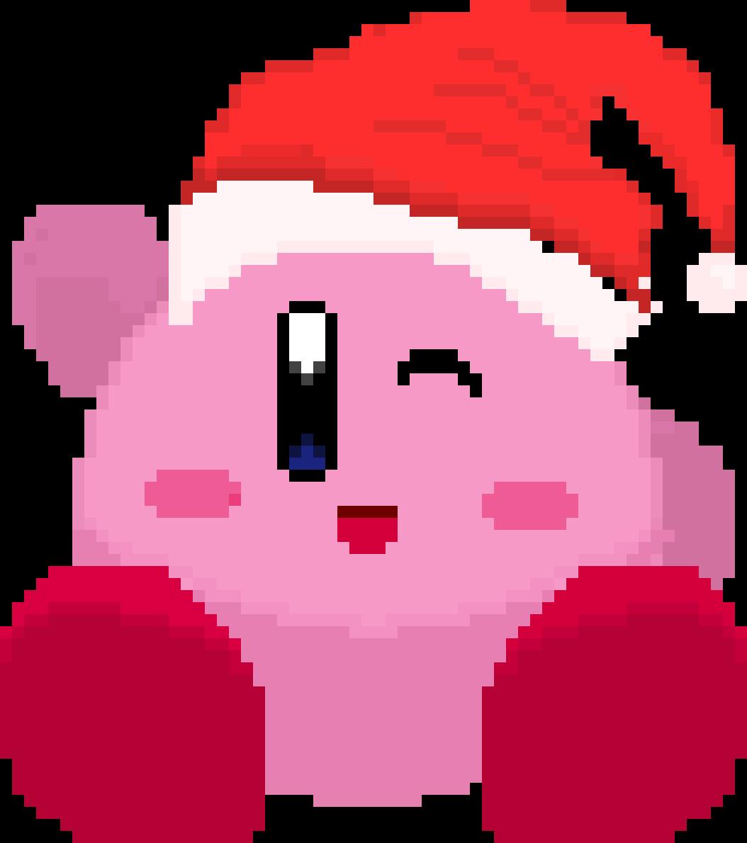 Pixilart - Merry Christmas Kirby by ThouArtArt