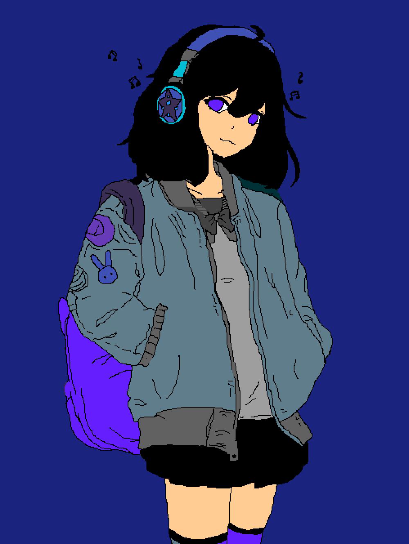 Music girl by TheWolfGirl