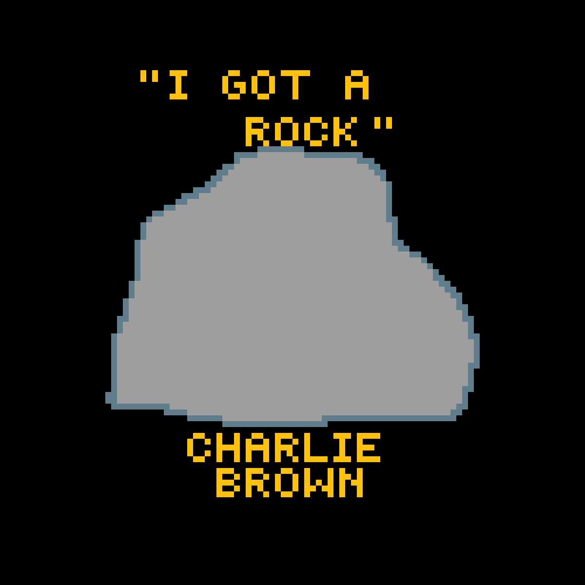 Pixilart - Rock with quote by Charlie Brown by TheSiren4574