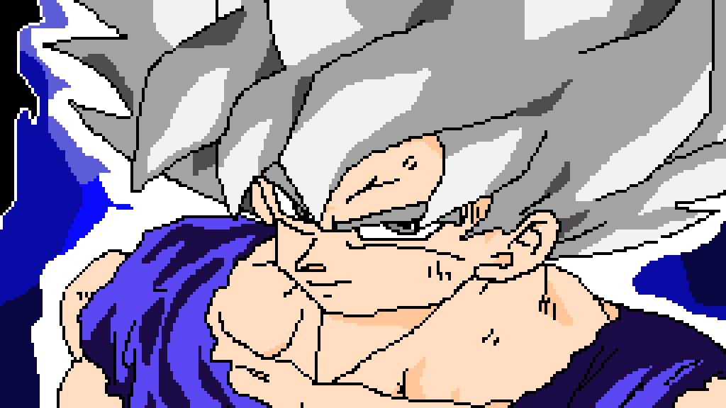 Pixilart Mastered Ultra Instinct Goku In Old Dragon Ball Z