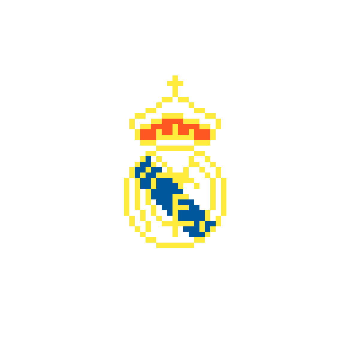 Shield of Real Madrid Pixel by Gamer066