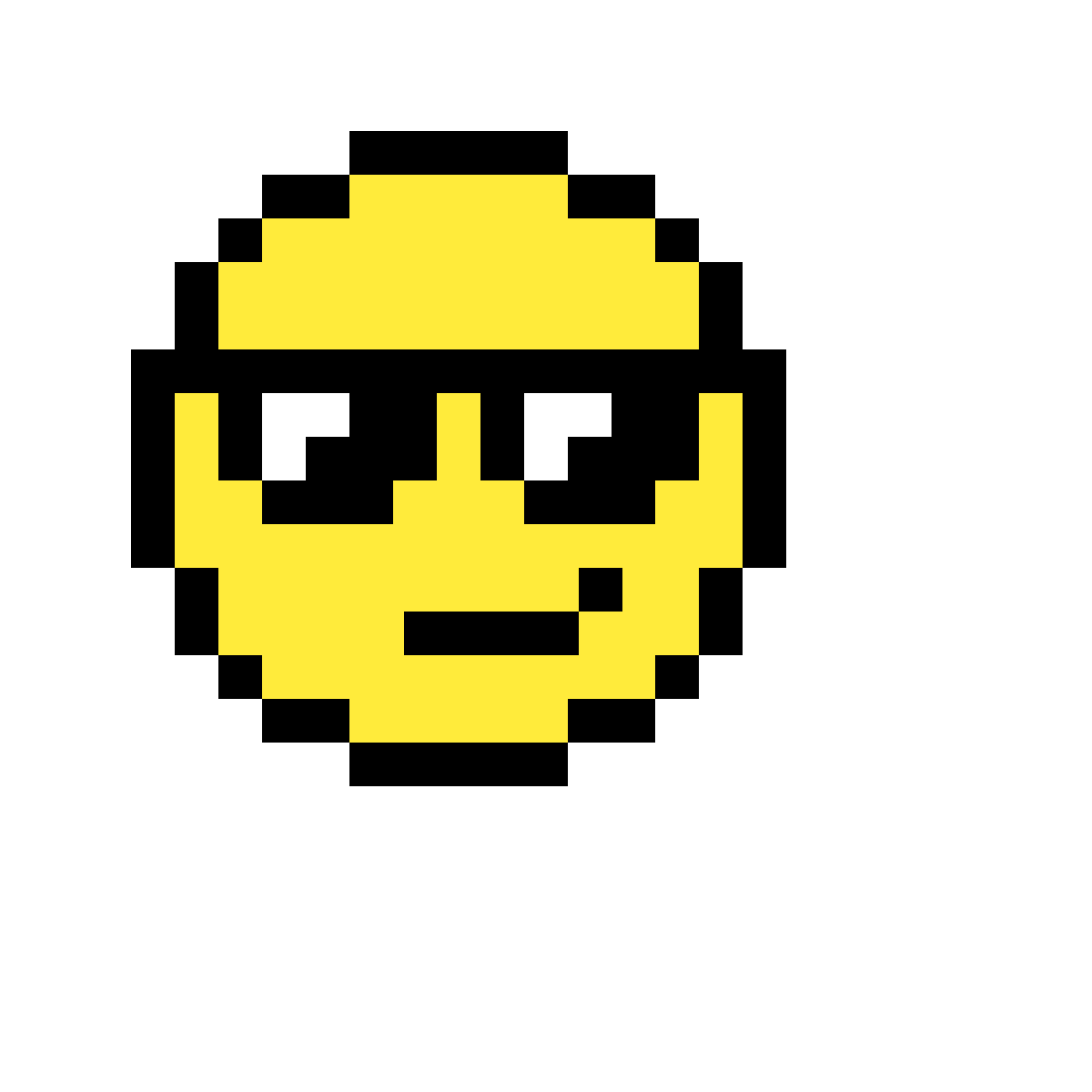 Pixilart Cool Face Emoji By Powerful Pickle