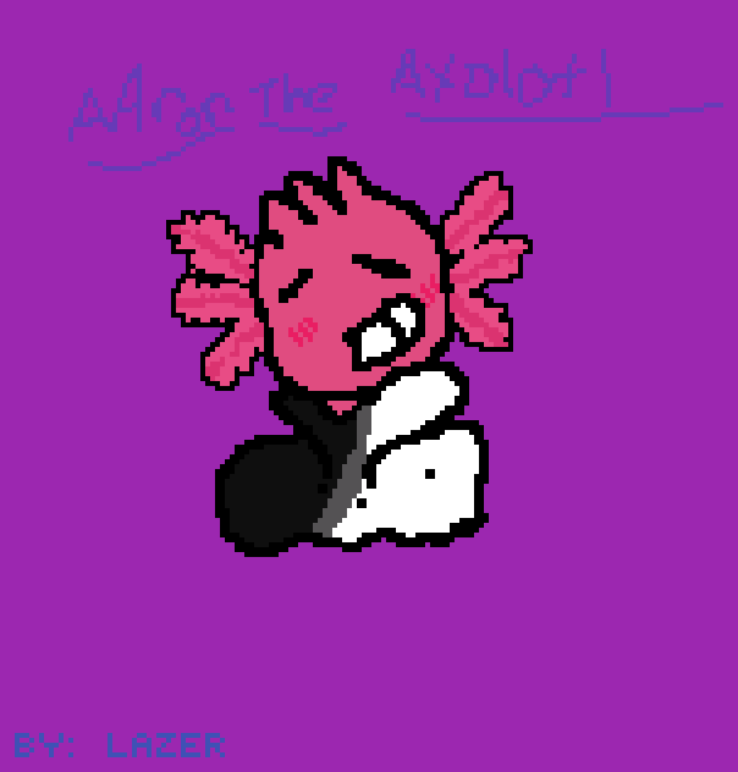 AAron the axolotl  by Lazer-Fox