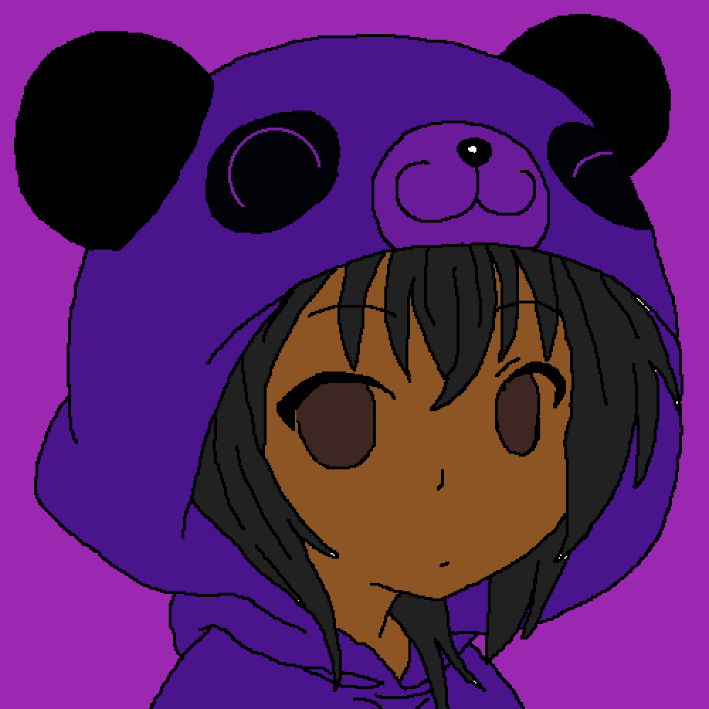 purple panda  by love-my-self