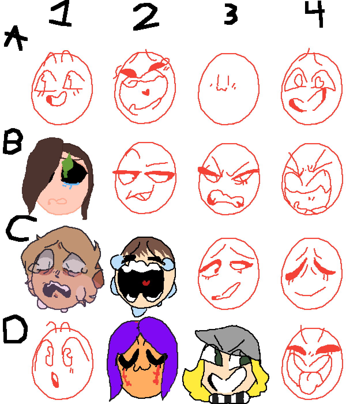 Face collab by PurpleSoup