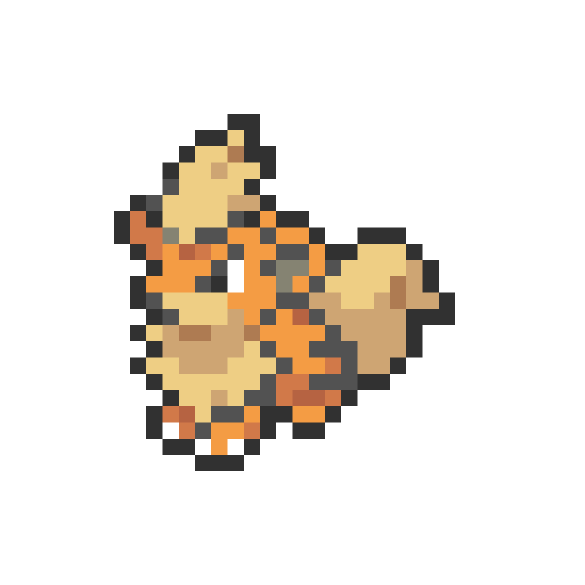 #058 Growlithe Mini Sprite by Andruru