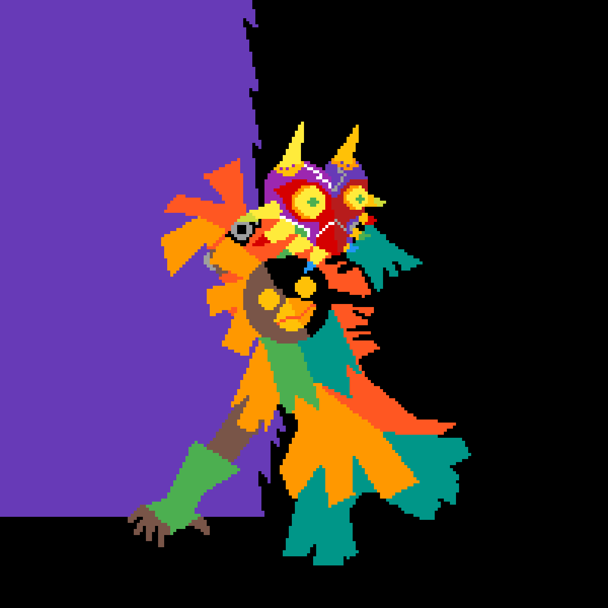 Skull kid with mask by nessm8