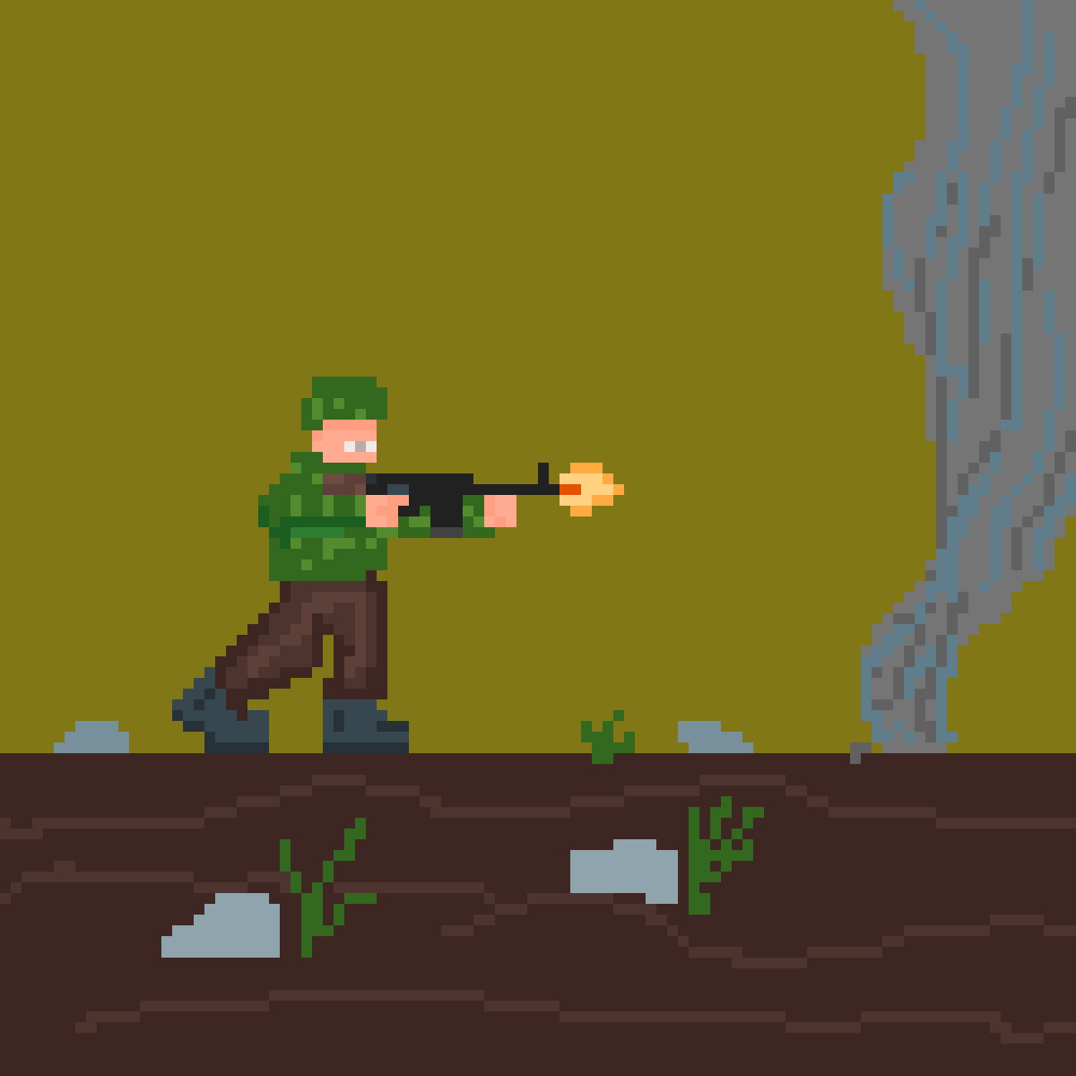 marine armed with m1921 by raph-da-lad