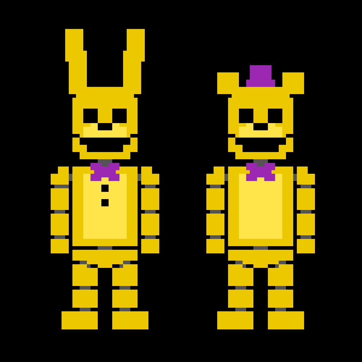 Fredbear and Spring Bonnie by crazycreeper529