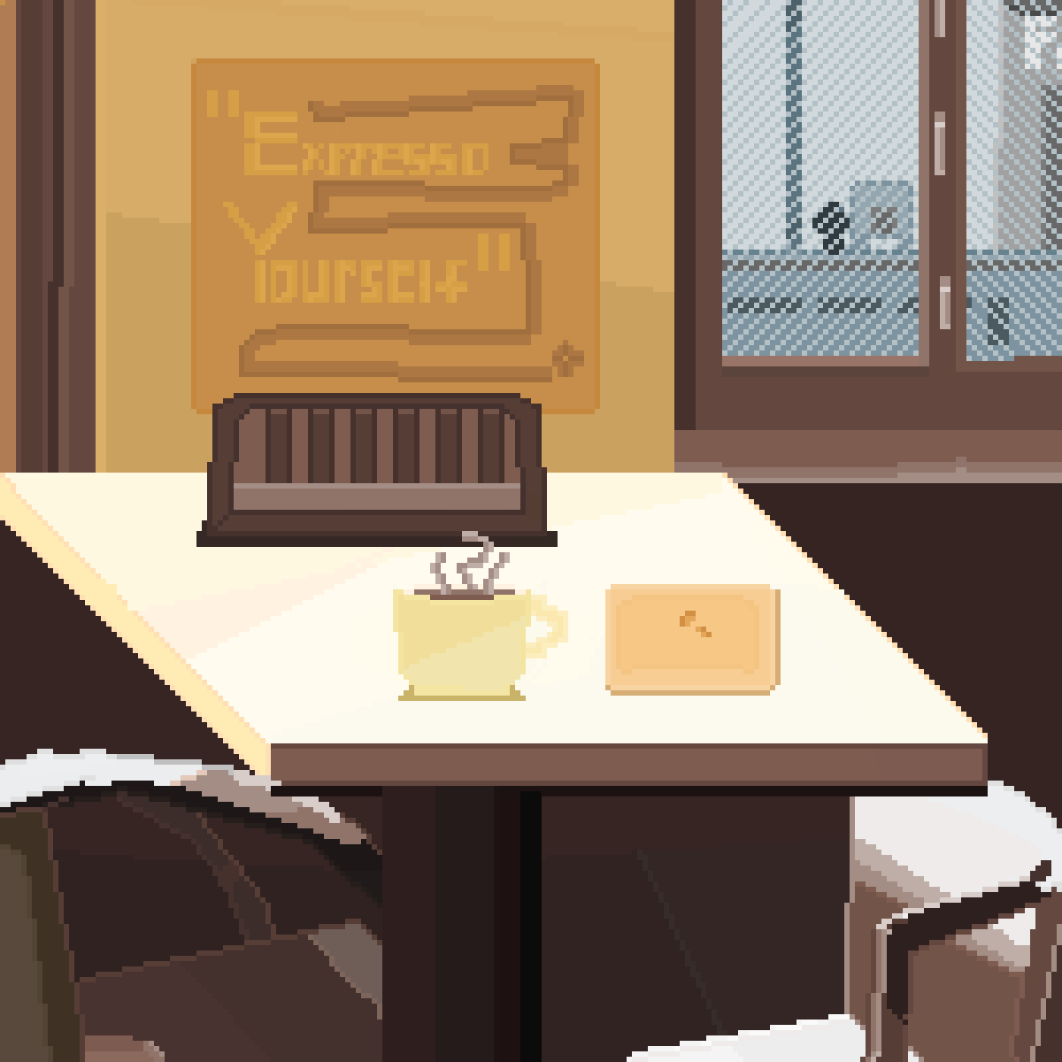 rainy day at the cafe