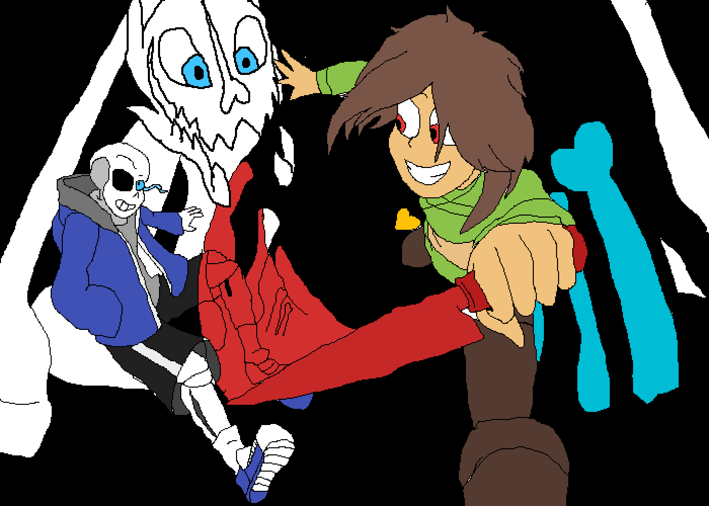 Chara vs Sans by FNAFlover7767