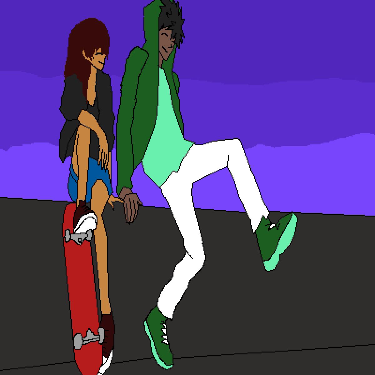 Skateboarding bros by Tysondagreat
