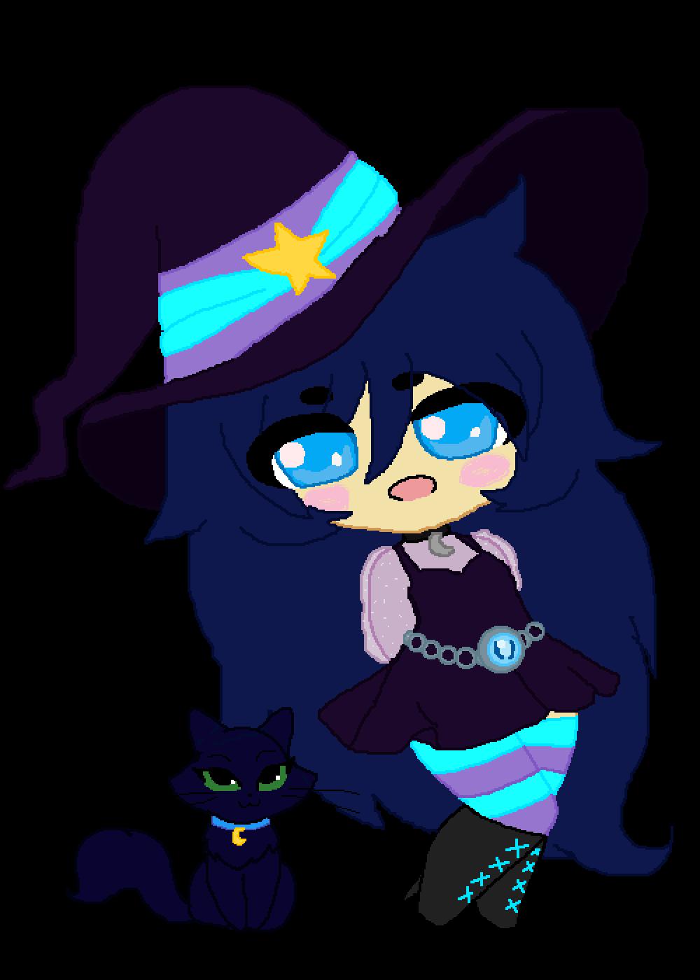 chibi witch by PurpleLion0112