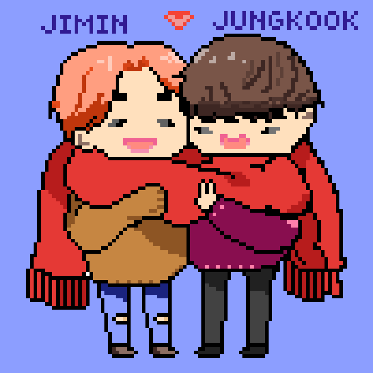 Jimin & Jungkook [winter time] <3 by pixiered