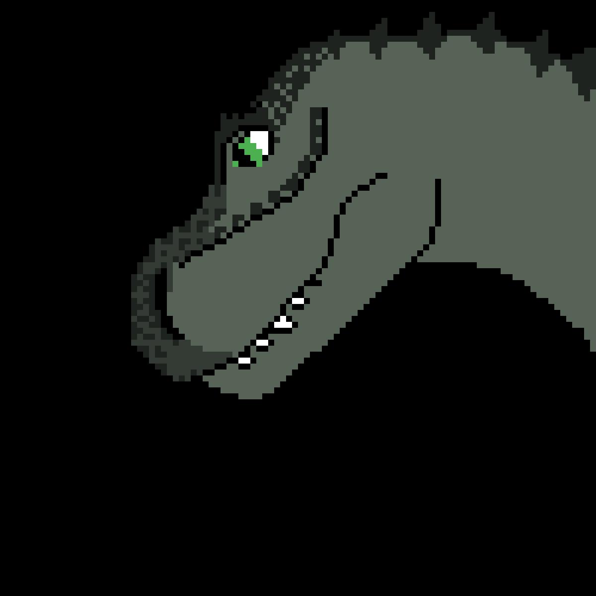 some dinosaur head by KingAlaren