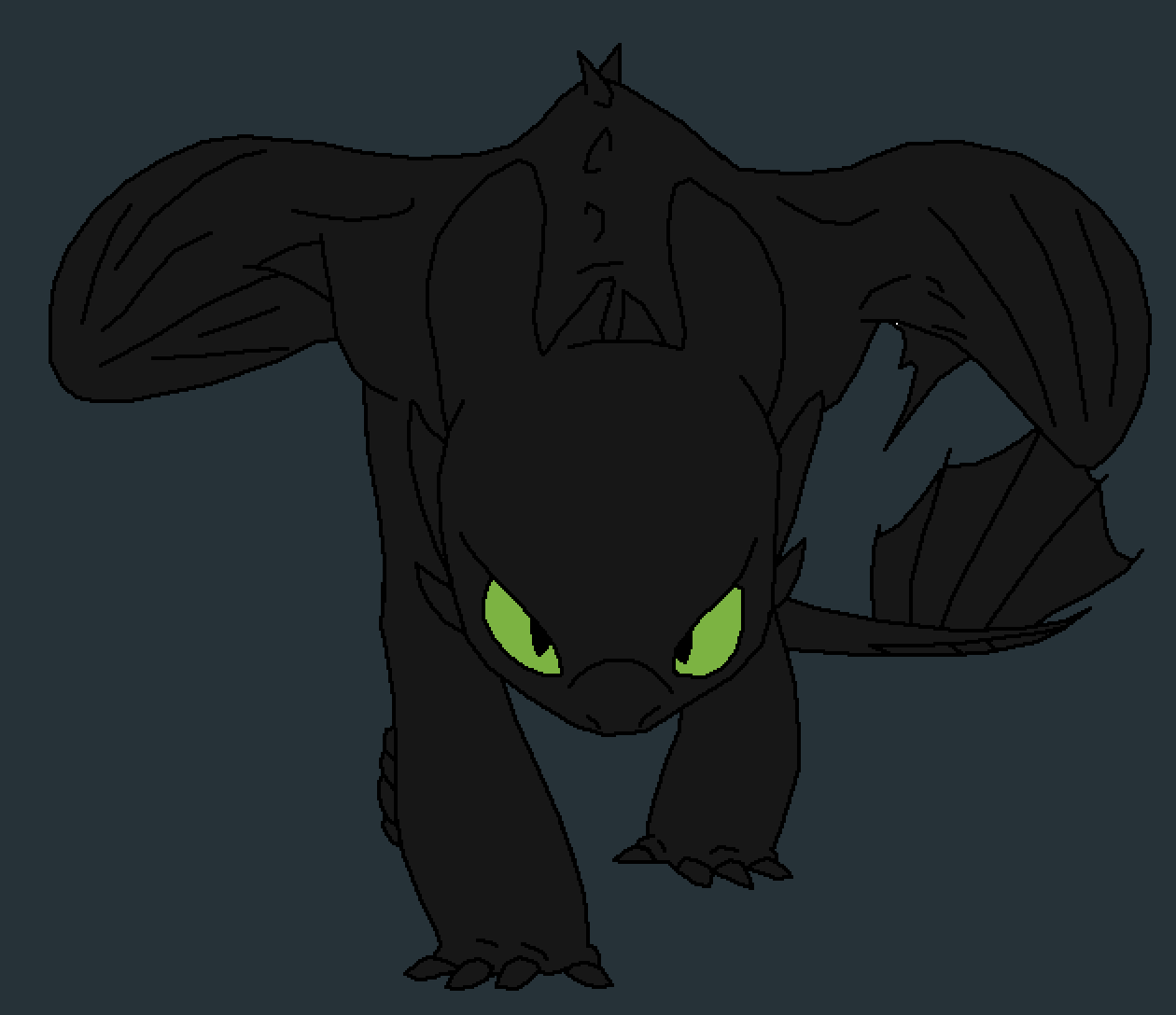 Toothless by WAFFLELUV