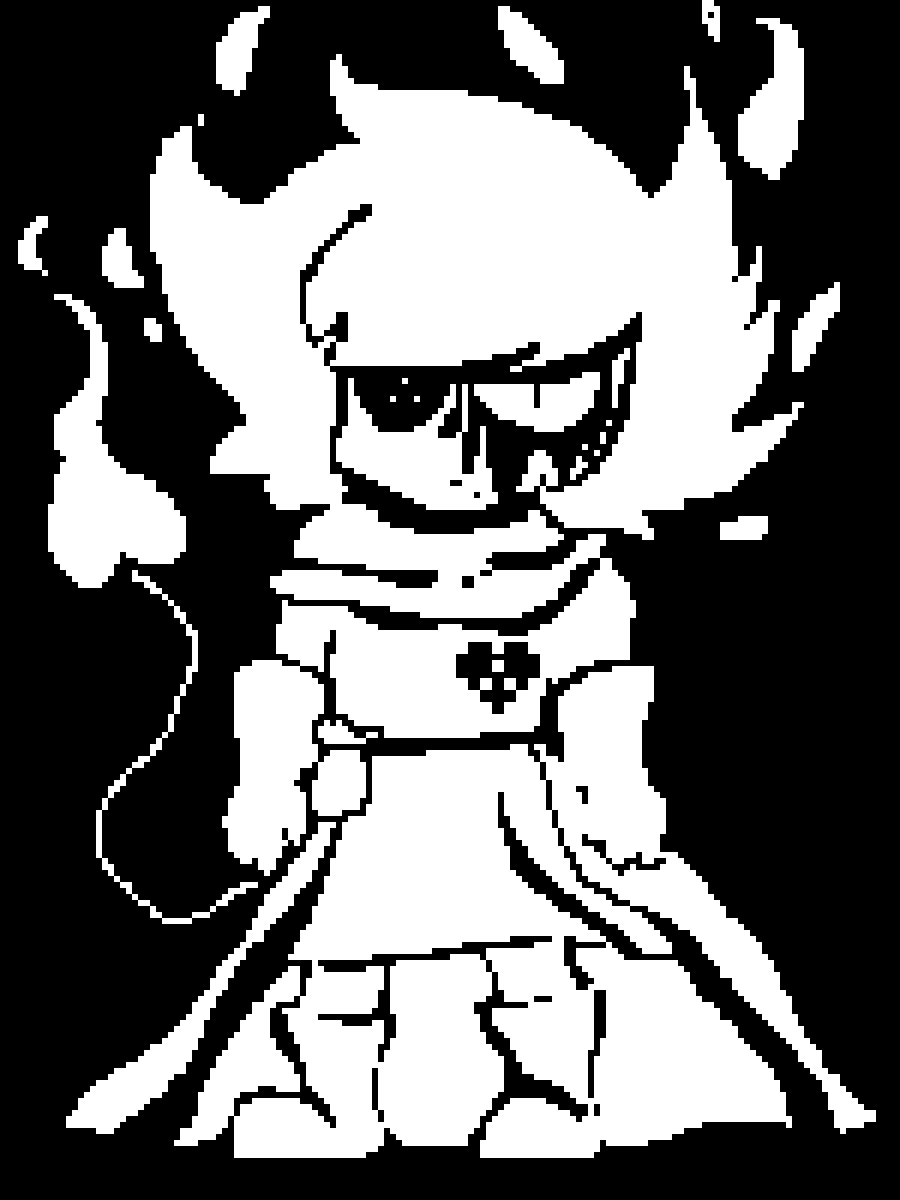 fight position lexis (undertale OC) corrupted version by Pandor-des-wald