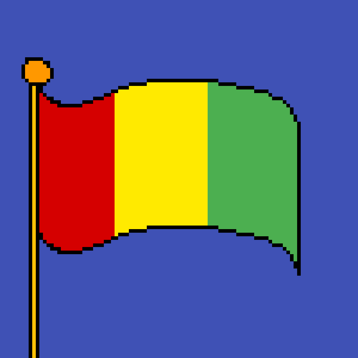 The flag of Guinea by poison-darts317