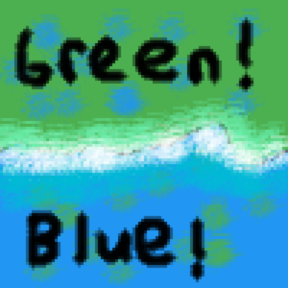 GREEN AND BLUE by Spacecats10253