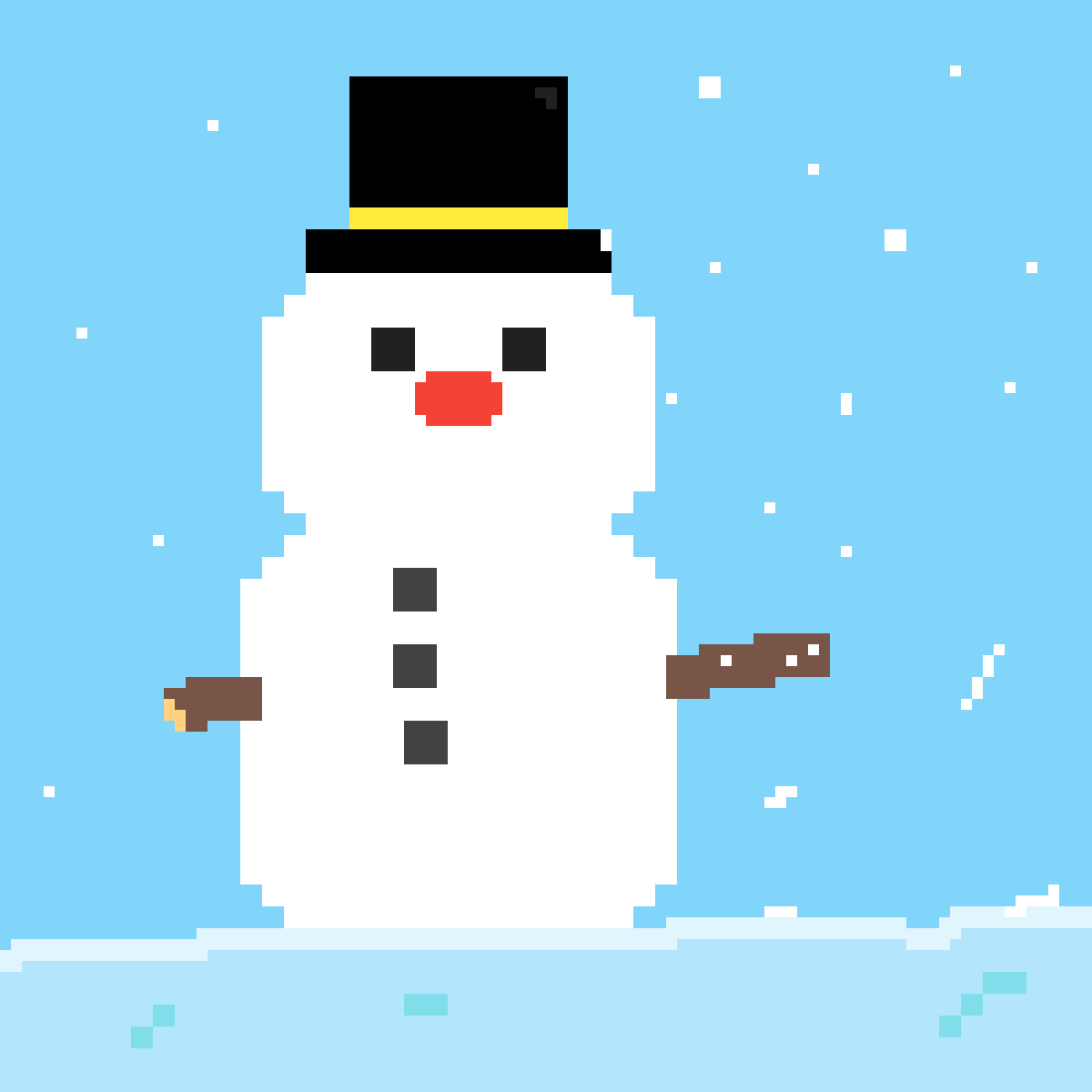 Frosty the Red-Nosed Snowman. by splashyoat