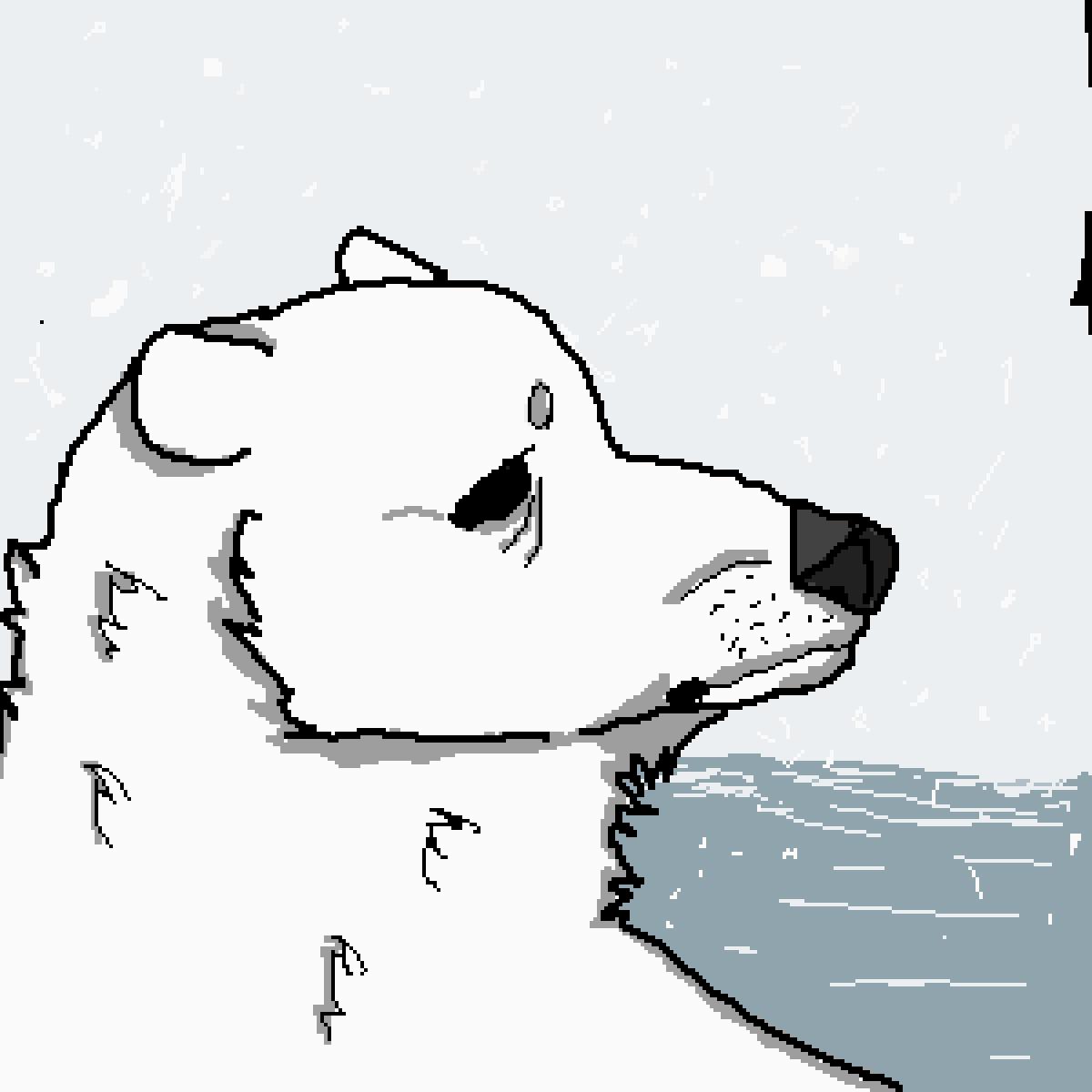 polar bear  by Sad-Toast