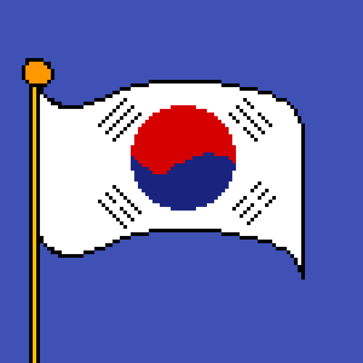 The flag of South Korea by poison-darts317