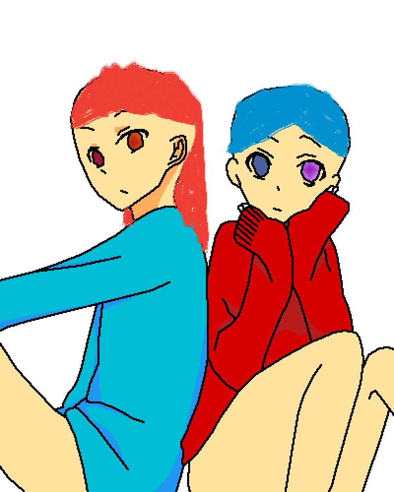 Red and blue by Red1234