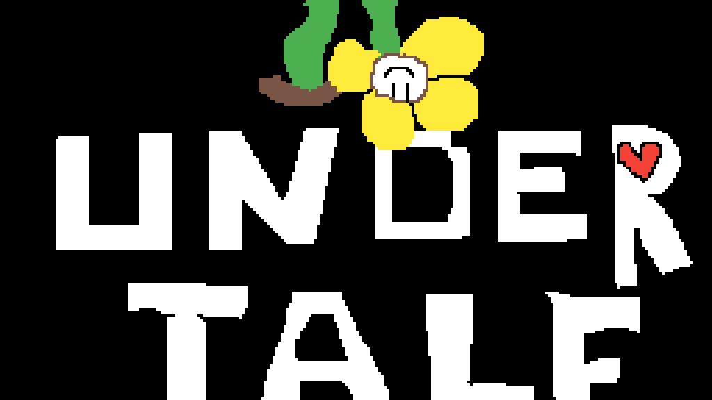 Pixilart - undertale logo by dragonfire