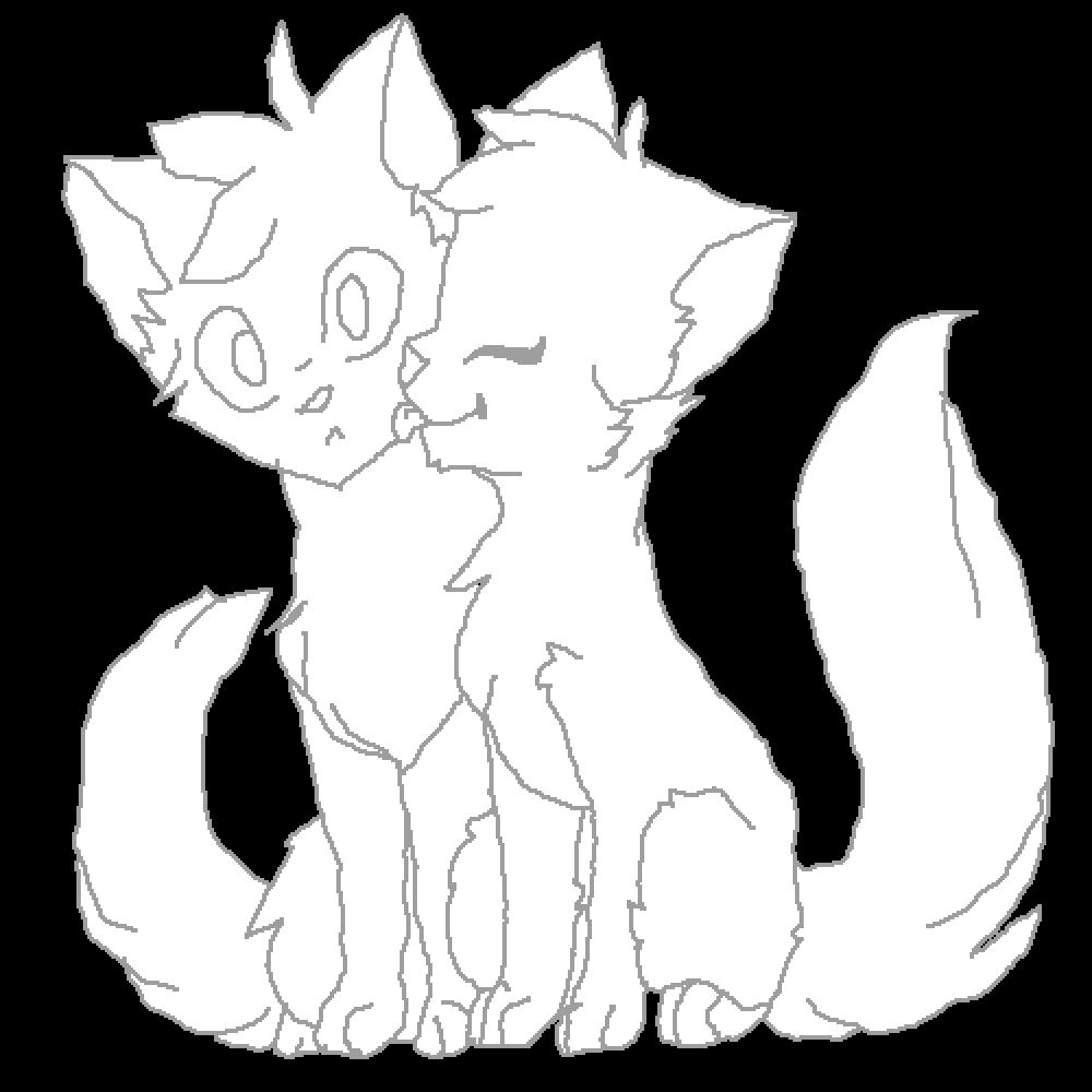 Warrior Cat Couple Base