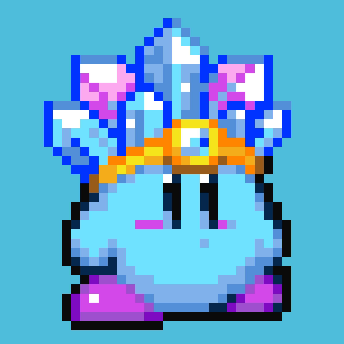 Pixilart - Ice Kirby by Pixel-Wizard