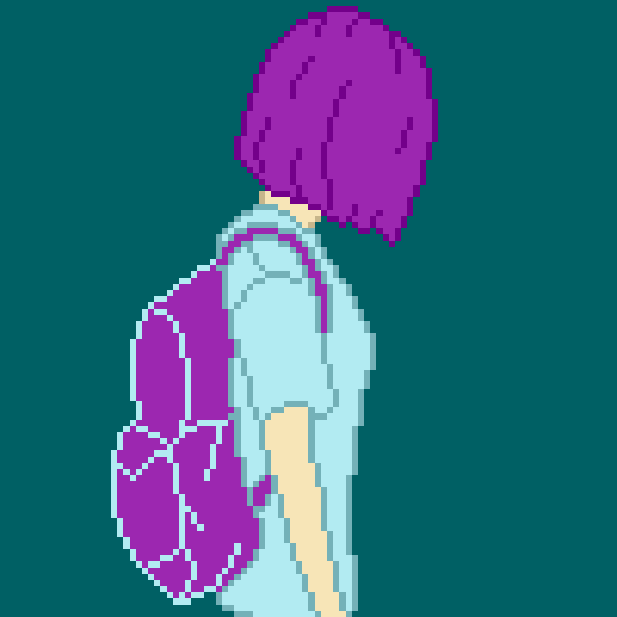 My OC W/Backpack by PeachyPie339