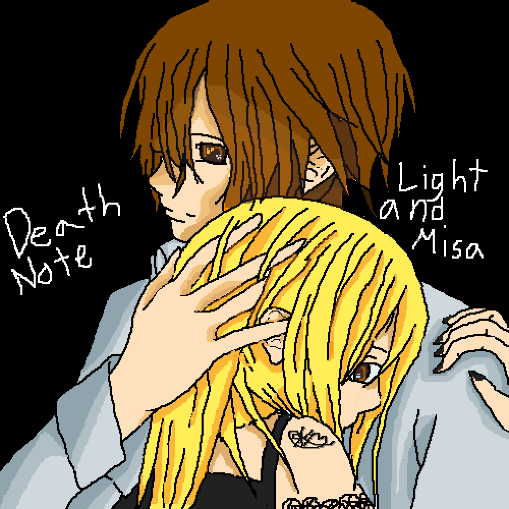 Light Yagami and Misa Amane {Death Note}