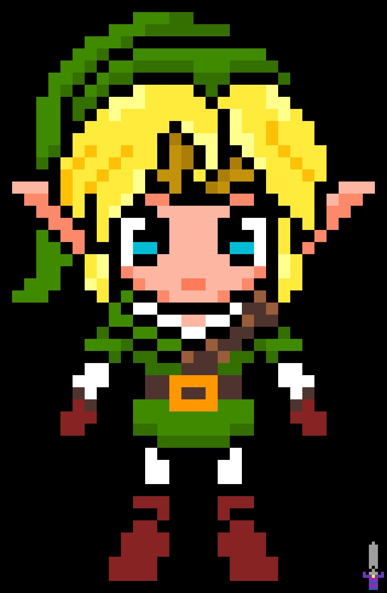 Pixilart Legend Of Zelda Ocarina Of Time Cute Link By