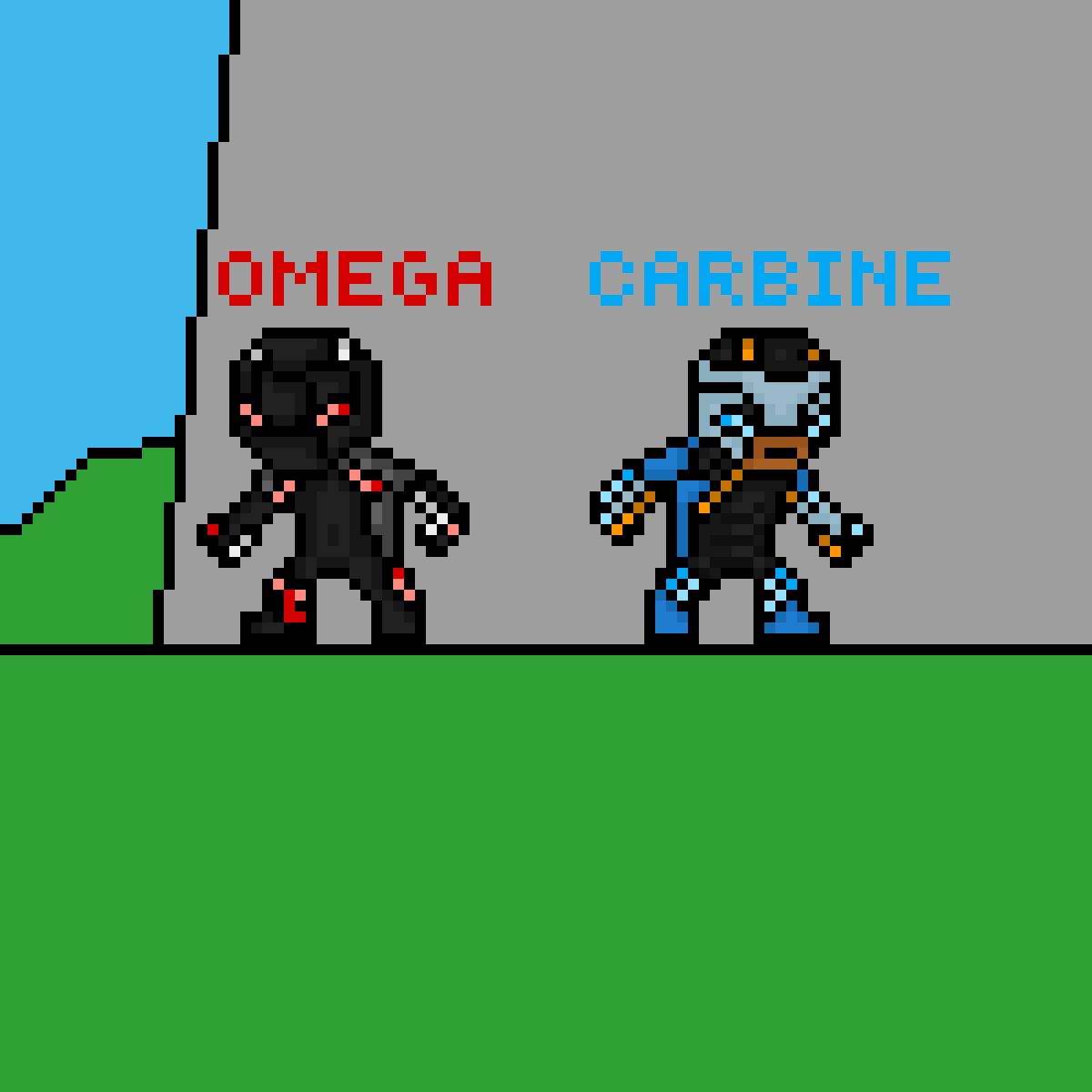 Pixilart Fortnite Omega And Carbine By Darknesslion87