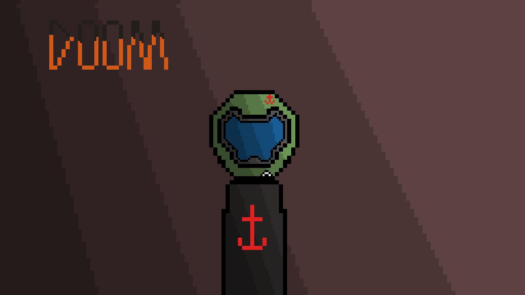 Pixilart Doom Praetor Suit Helmet By Radioroach