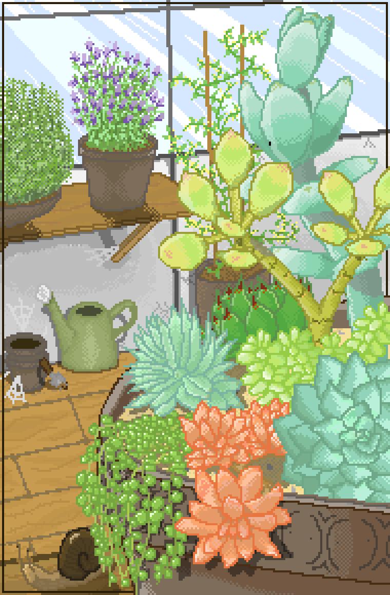 Succulent Garden by KittenLasers