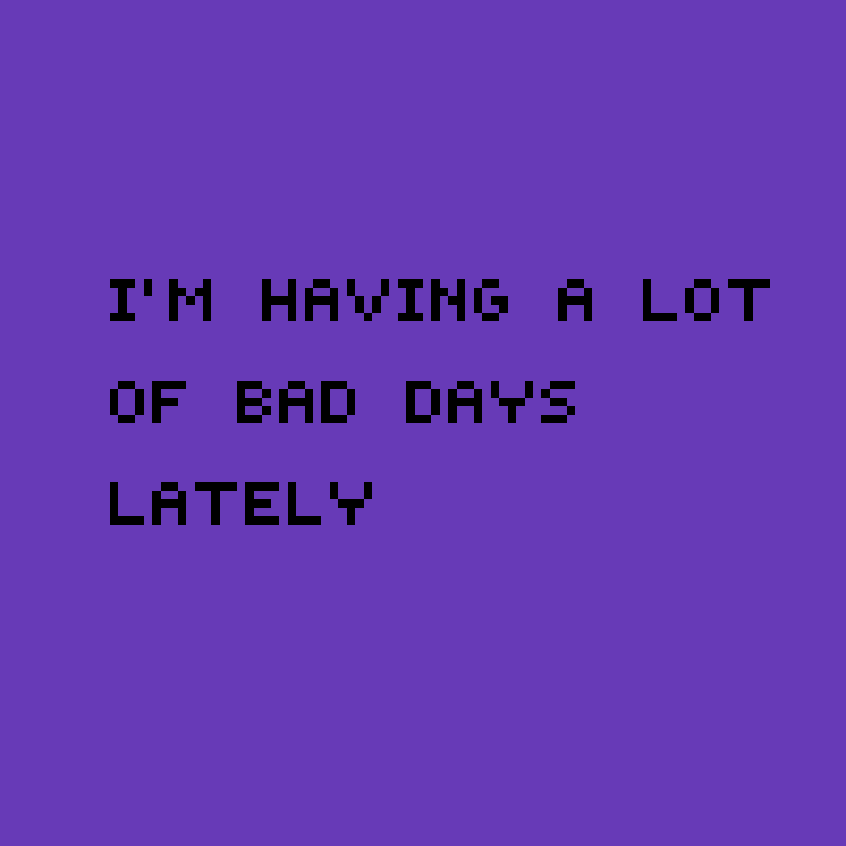 Bad day  by Lilacpuppy