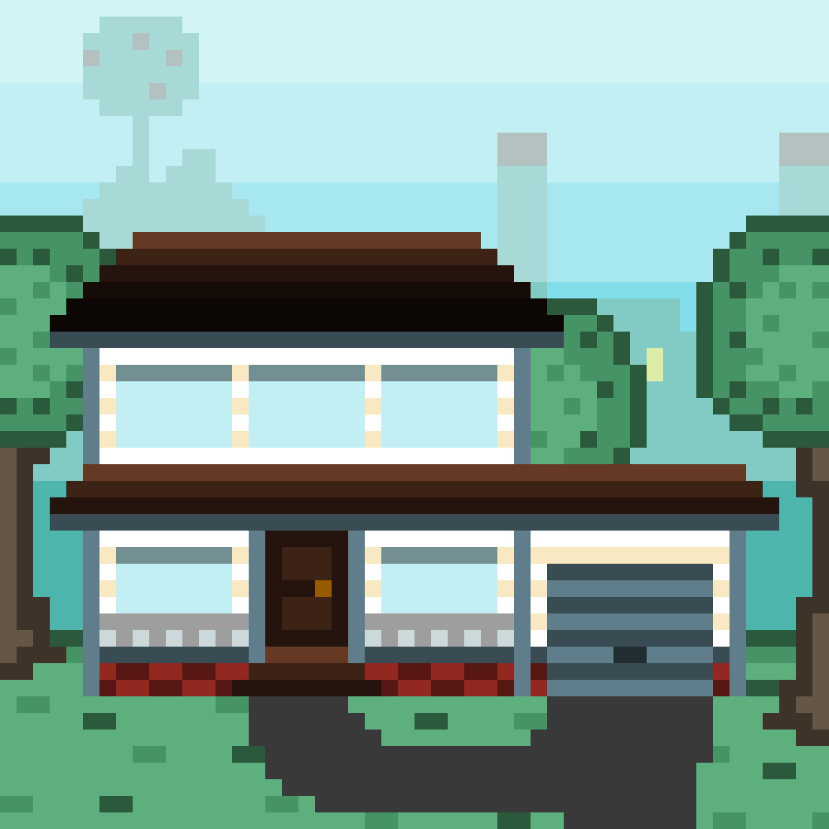 Suburban house. by Cookielicious