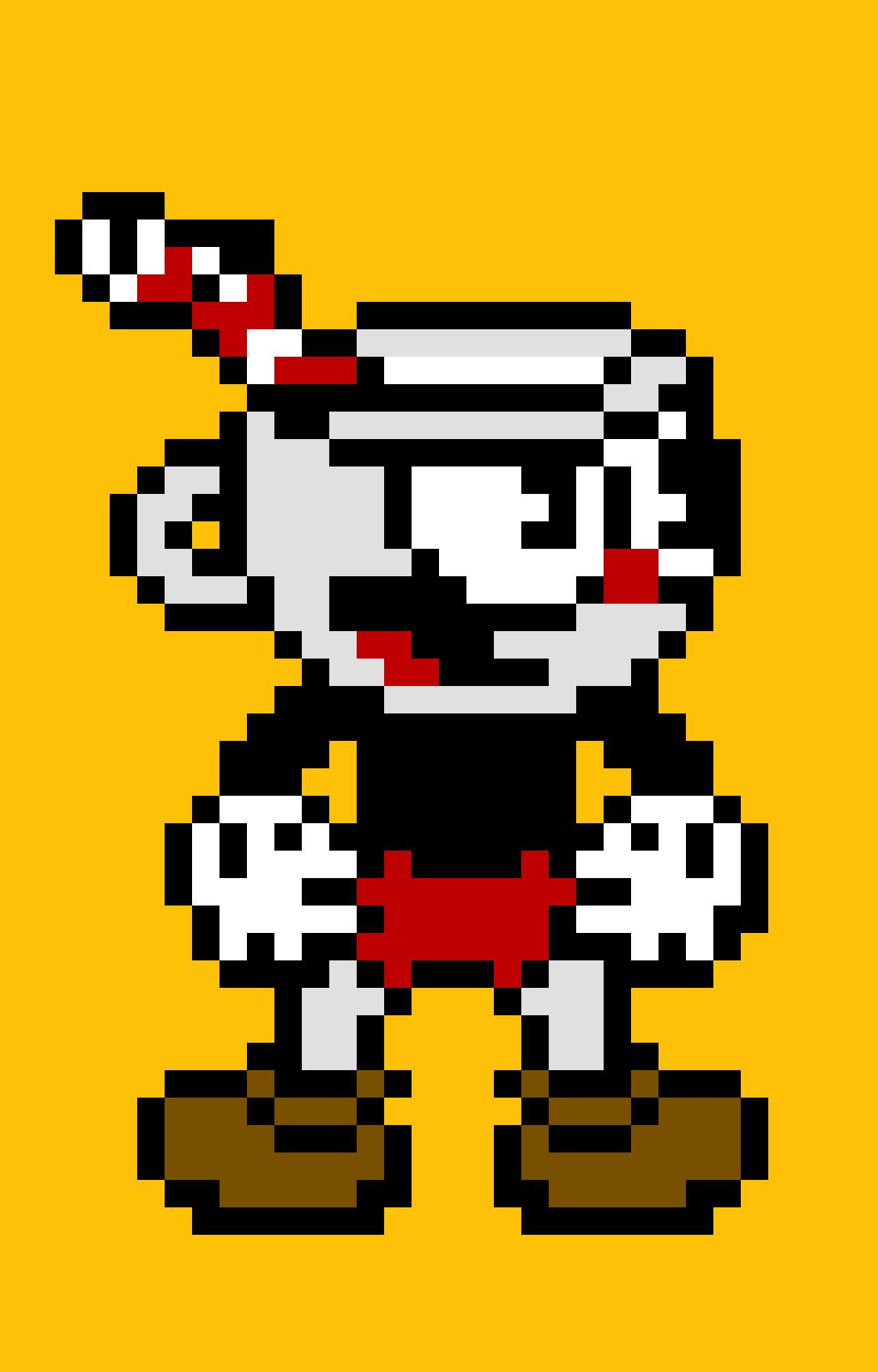 Cuphead Pixel Art