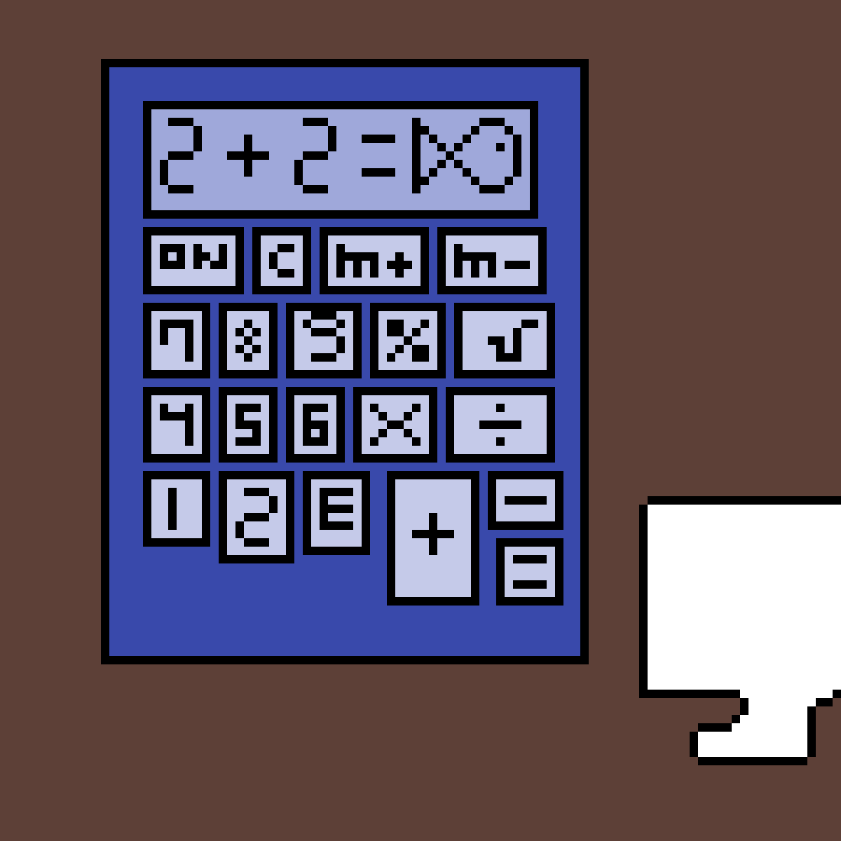a calculator by HayliePlays