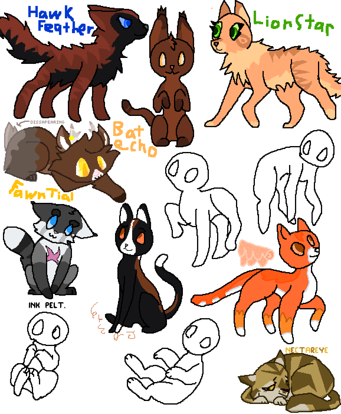 Cat Clan Collab by ThunderThighs