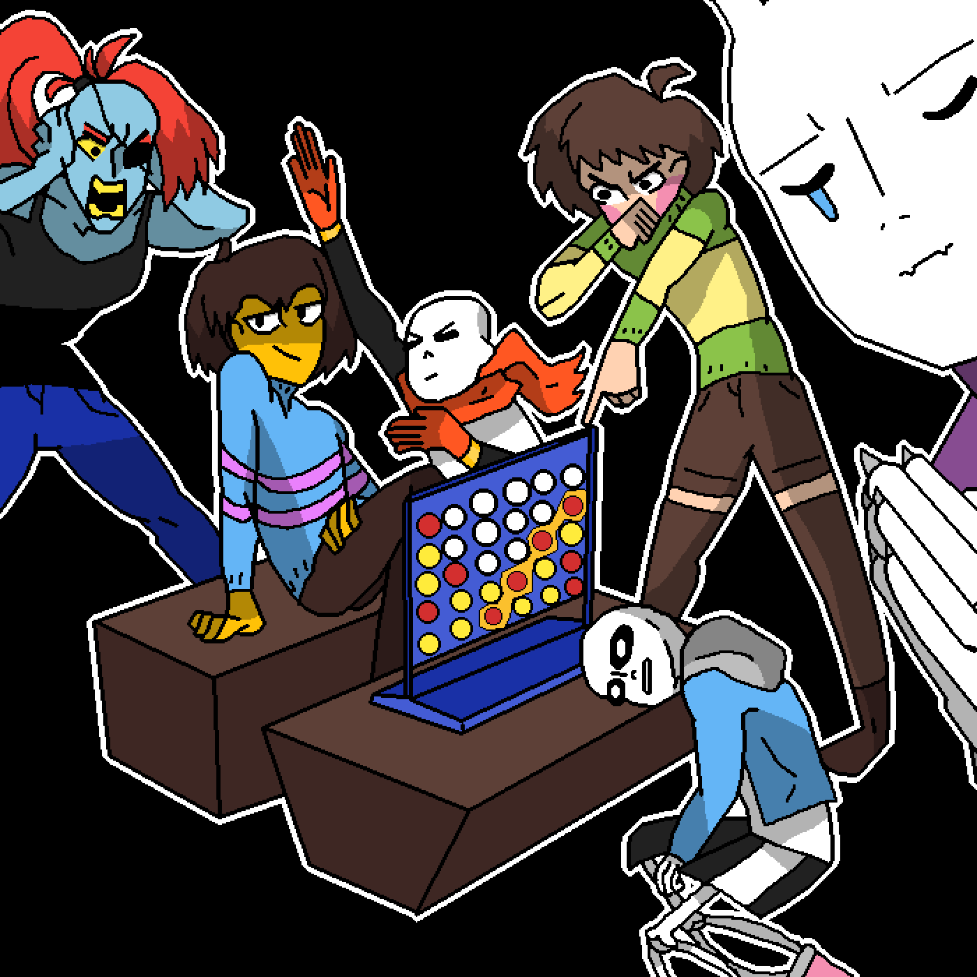 Connect 4 Undertale Collab by MidNight11