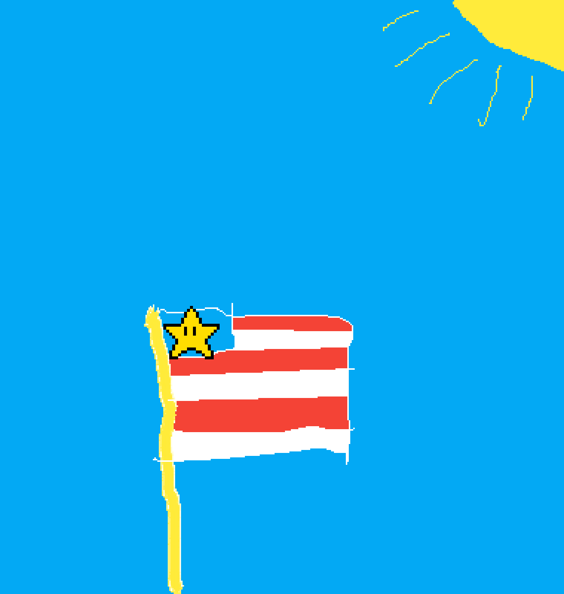 flag  by light-flame