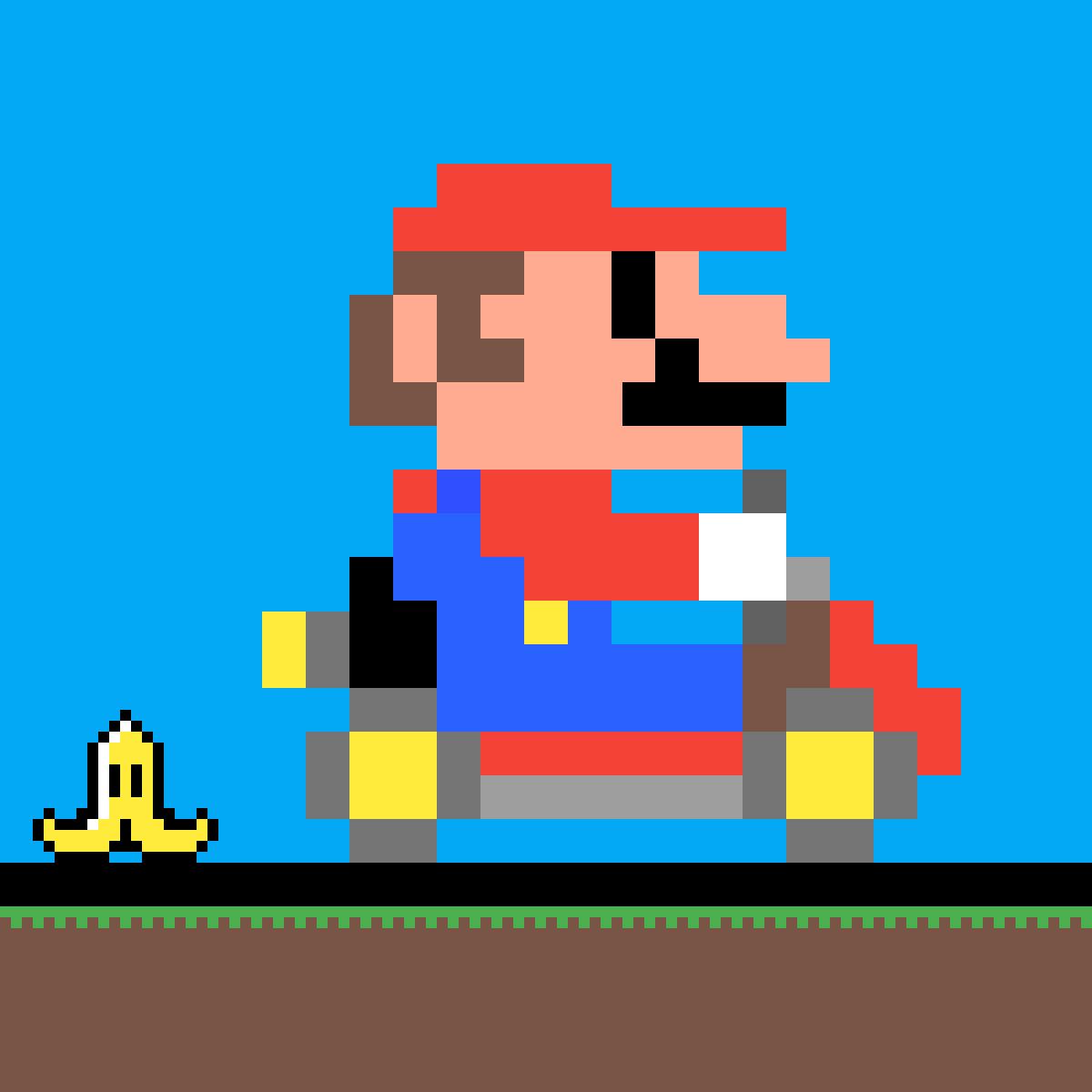Pixilart Mario Kart Pixelart By Mariojoe