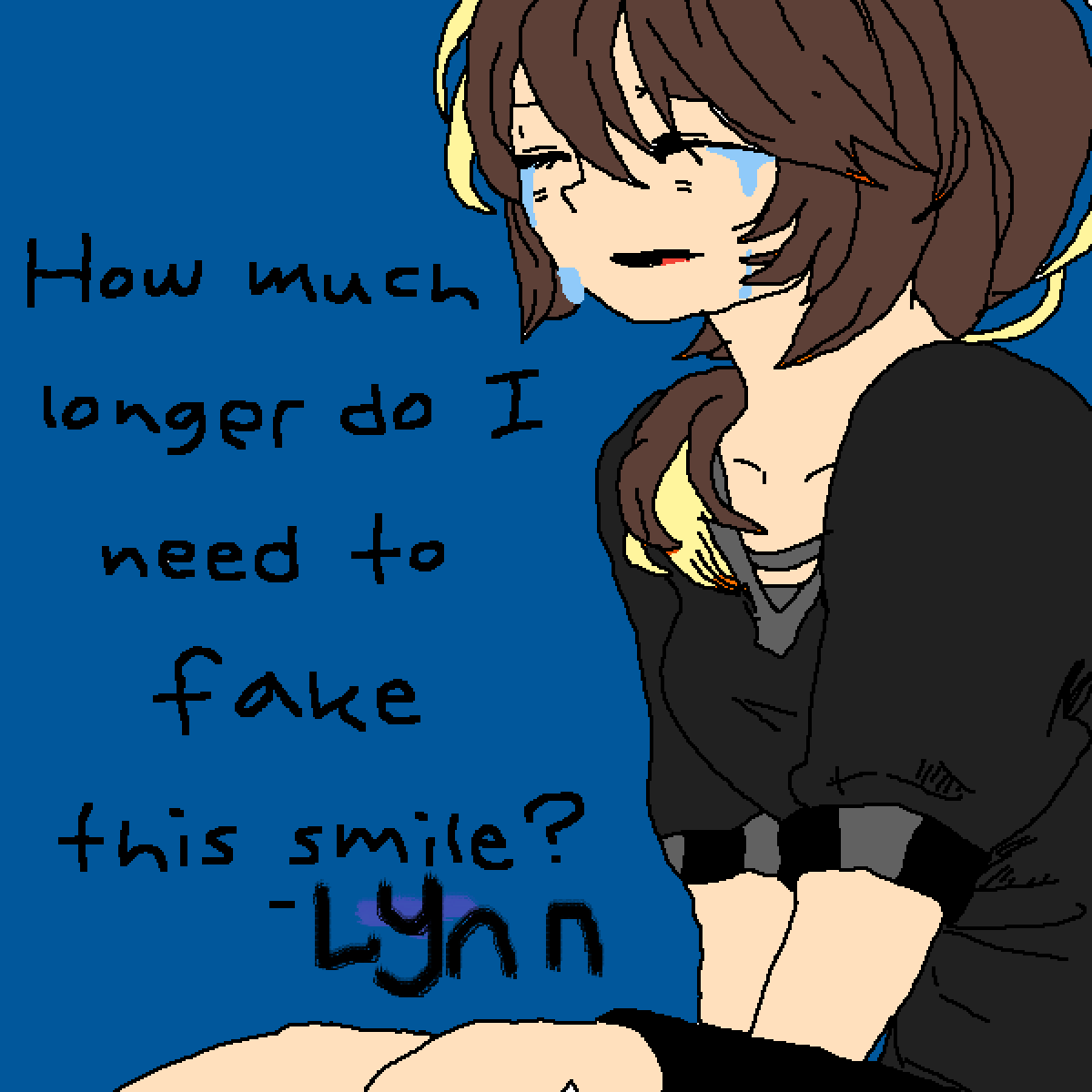 How Much Longer Do I Have To Fake This Smile? by Lynn-Chan