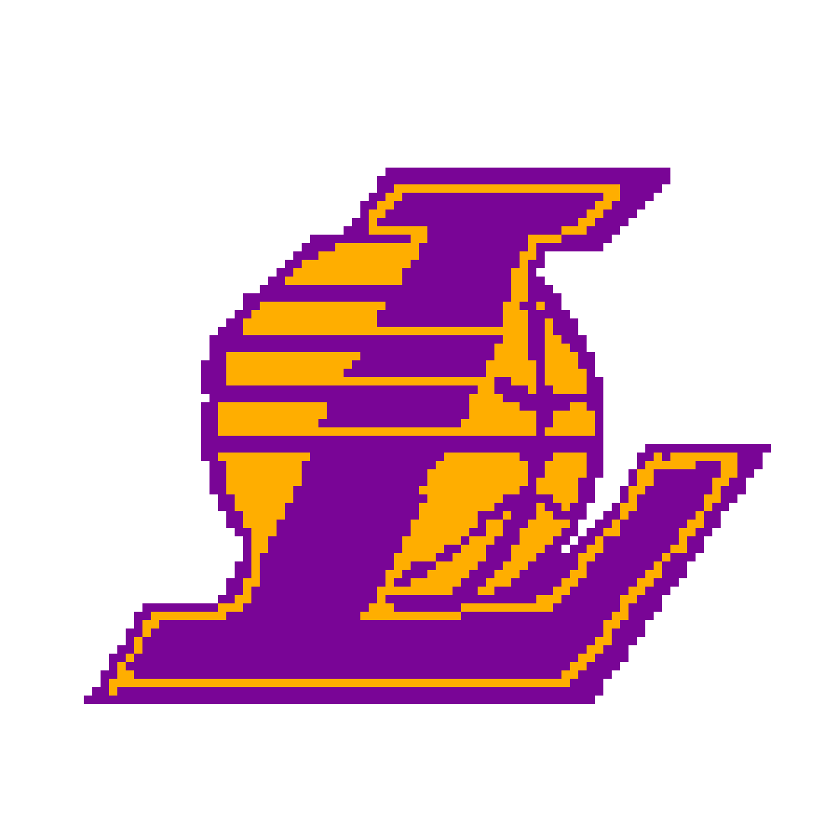 pixilart lakers logo by adda2ude rh pixilart com how to draw the lakers logo step by step