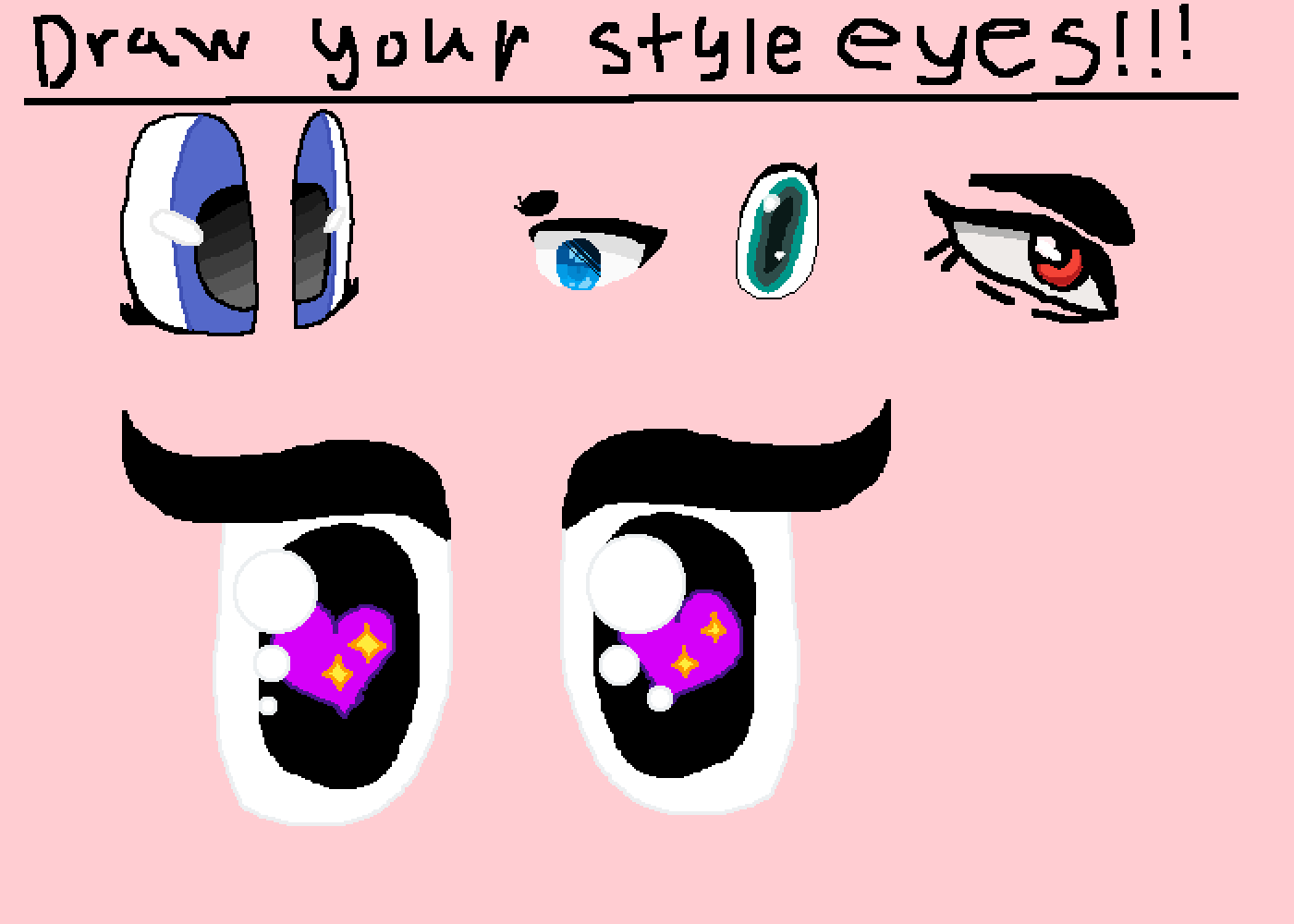 Pixilart , Eye styles! by cloudySovierent