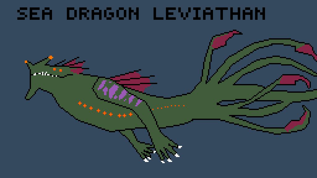 Pixilart Sea Dragon Leviathan By Asrieldreemur Leviathan is a water element monster. pixilart sea dragon leviathan by