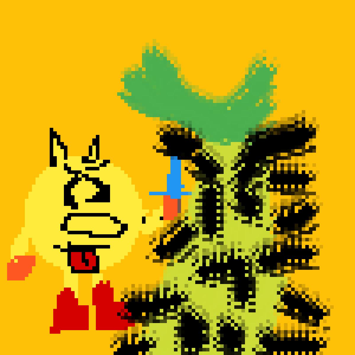 Pacman vs Pineapple by Mariosonic1232